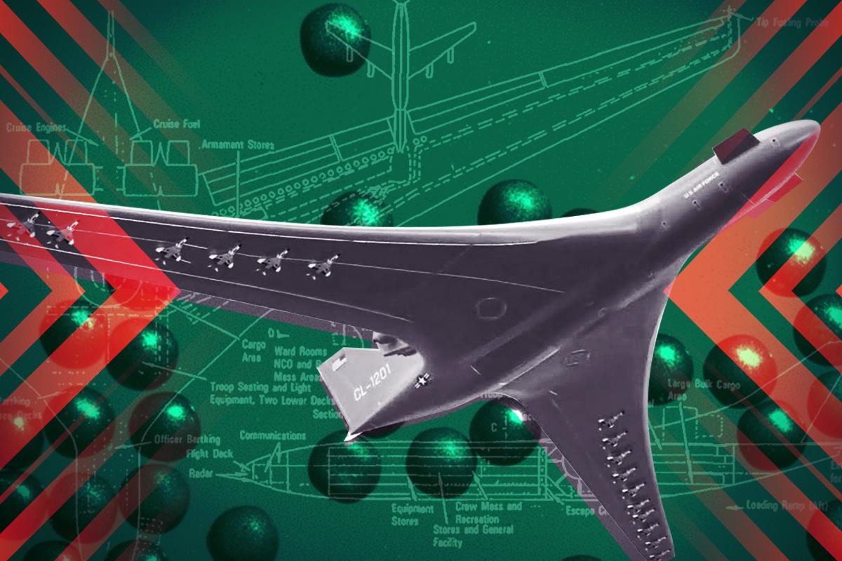 瘋狂的核飛機,將被核技術突破喚醒。(大紀元製圖)
