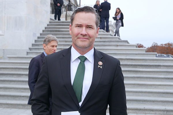 圖為國會眾議員邁克爾·瓦爾茲(Michael Waltz)。(李辰/大紀元)