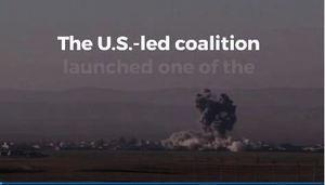 震撼!美軍大型空襲擊中IS炸彈工廠43目標
