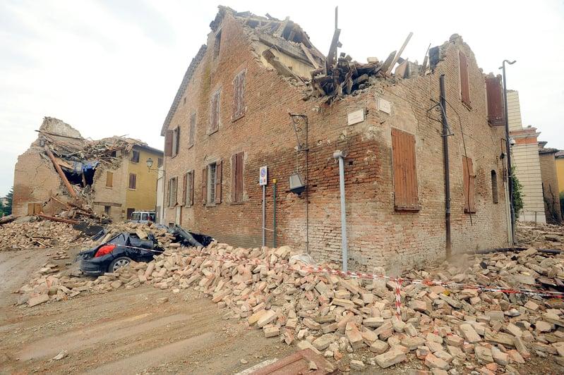 8月20日清晨,意大利北部發生該國3年來最強的地震,至少50人受傷,數人死亡。許多歷史悠久的建築物嚴重損壞。(Roberto Serra/Iguana Press/Getty Images)