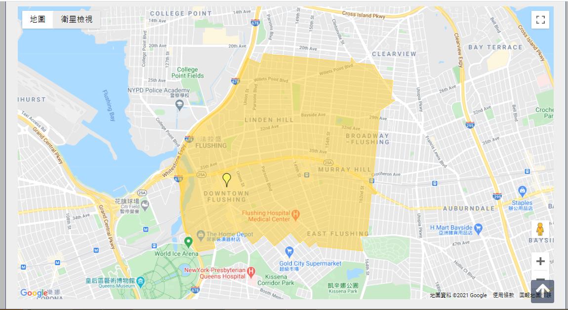 金兌錫選區地圖(Google 地圖)