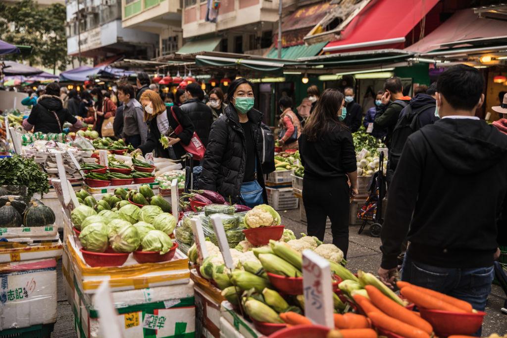 香港今天(2月22日)公佈1月份錄得通脹年比上升1.9%,上月為收縮0.7%。(DALE DE LA REY/AFP via Getty Images)