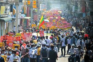 緬甸反軍政府的政變示威擴大