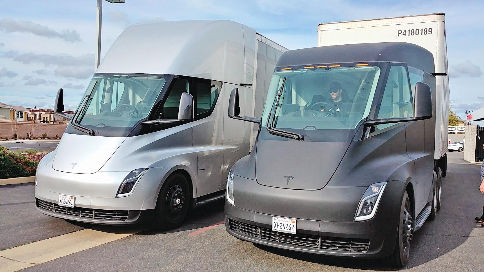 特斯拉的Semi電動卡車。(Tesla)