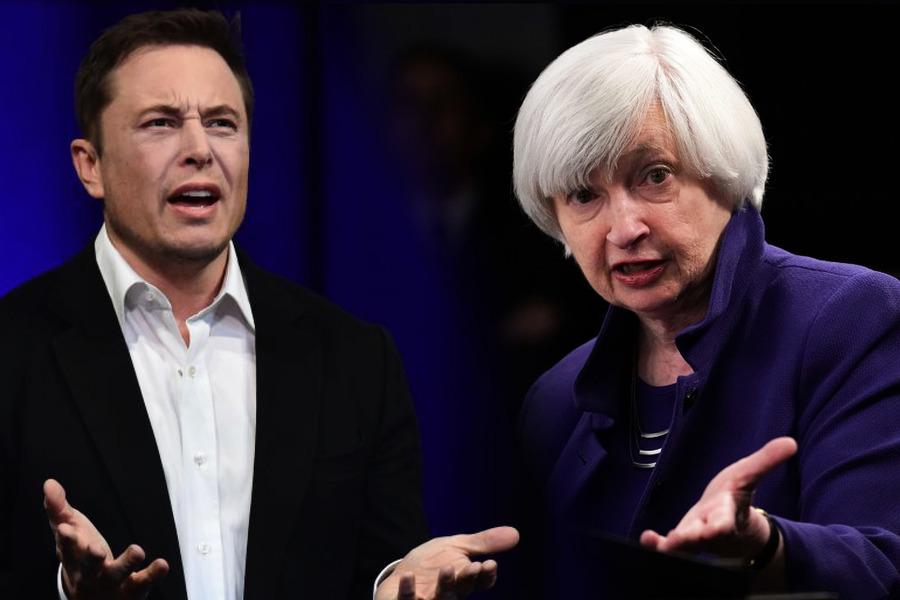 馬斯克與耶倫一句 Bitcoin即暴跌險穿4.5萬美元