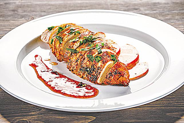 烤雞肉可搭配蘋果醬、奇異果醬和莓果醬等等。