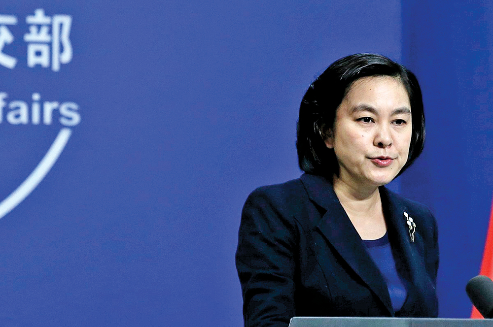 2月18日,中共外交部發言人華春瑩在回答記者提問時稱「為什麼中國人就不可以使用推特和臉書」,引發網友嘲笑。 圖為華春瑩。(大紀元資料室)