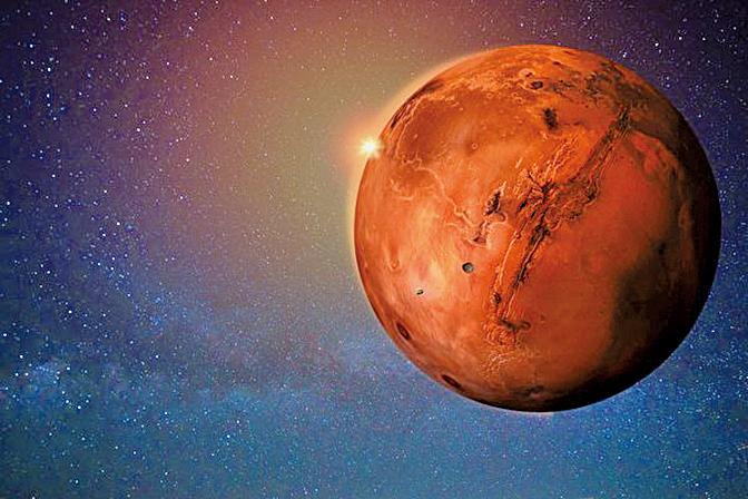 解密文件:美CIA或觀察到火星上的古代人類