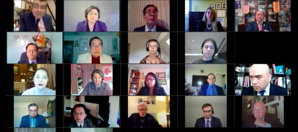 2021年2月24日,「國際終止中國濫用移植聯盟」(ETAC)、華府「共產主義受難者基金會」等117個機構聯合舉辦中共活摘器官研討會。(研討會影片截圖)