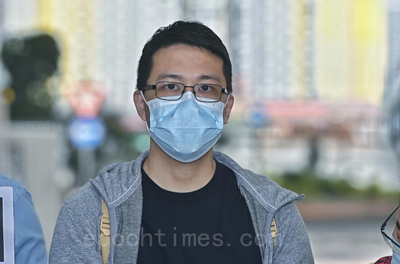 盧俊宇追討開支 抗議民政署打壓。(宋碧龍/大紀元)