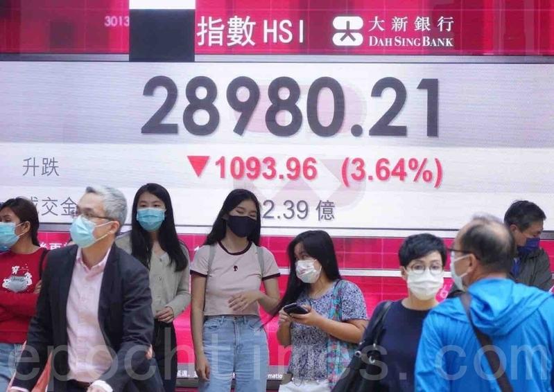 恒指挫1,093點 科技股崩5.7%美團暴跌