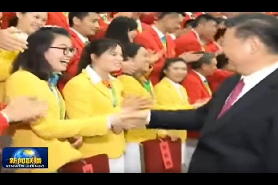 傅園慧與習握手 「我不洗手了」微博上刪掉