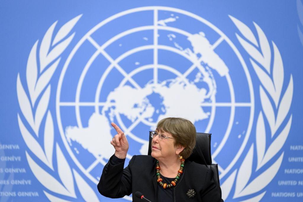 聯合國人權事務高級官員米歇爾·巴切萊特(Michelle Bachelet)。