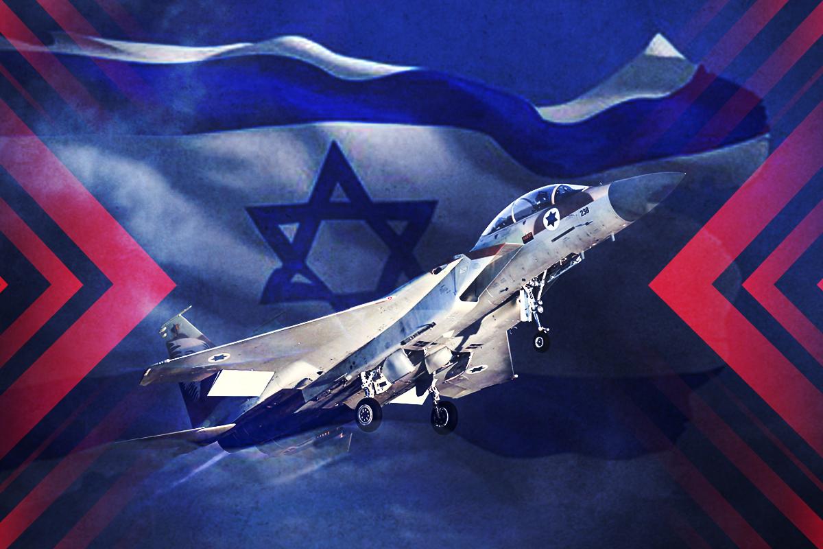 失去機翼的F-15,以色列空軍的傳奇故事。(大紀元製圖)