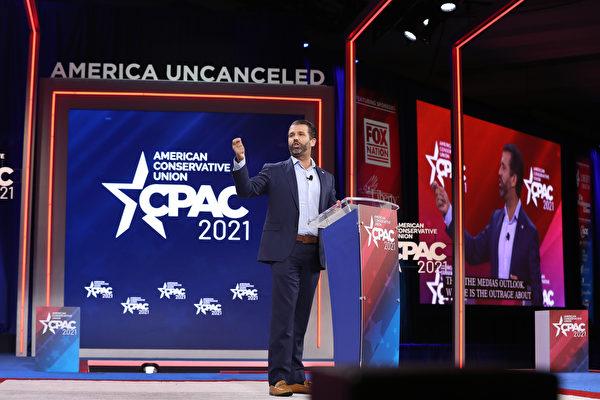 2月26日下午,小唐納德·特朗普(Don Trump)在CPAC會議上發言:重新點亮美國夢的精神。( Joe RaedleGetty Images).jpg