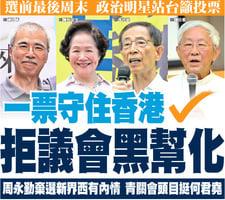 一票守住香港 拒議會黑幫化