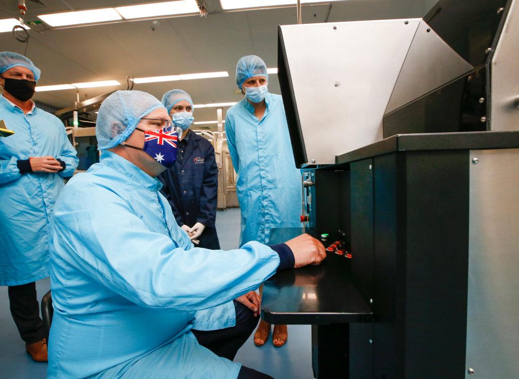 IHS Markit今(3月1日)公佈2月澳洲製造業指數(PMI) 為56.9點,反映經濟快速擴張。(David Caird-Pool/Getty Images)
