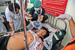 緬甸軍警向抗議者開槍 至少18死逾30傷