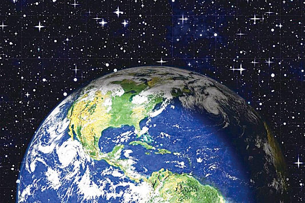 宇宙中的地球。(Pixabay)