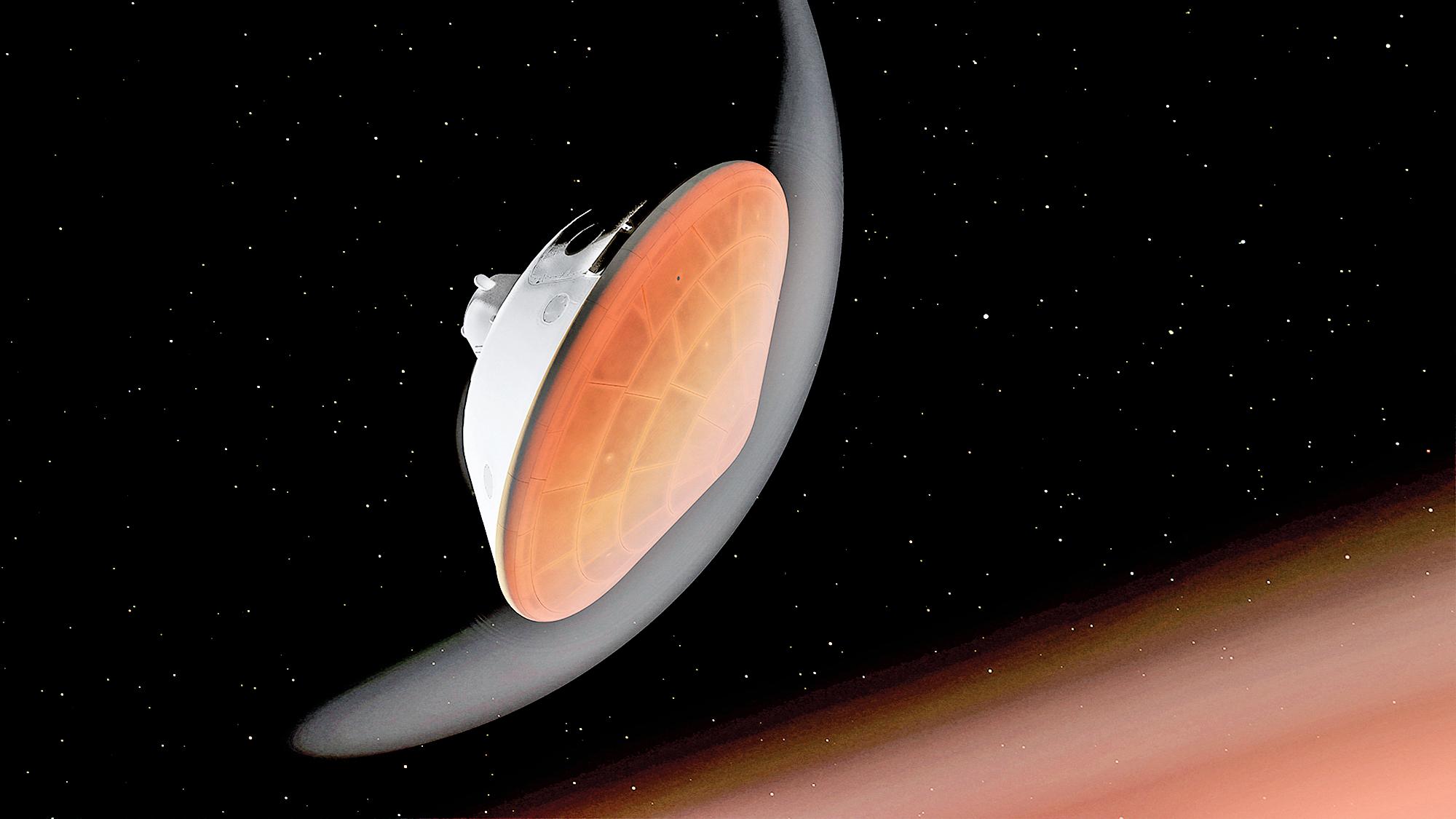 美國太空總署(NASA)「毅力號」火星漫遊車於2 月18 日在火星一個隕石坑底部著陸。 (Handout / NASA/JPL-CALTECH / AFP)