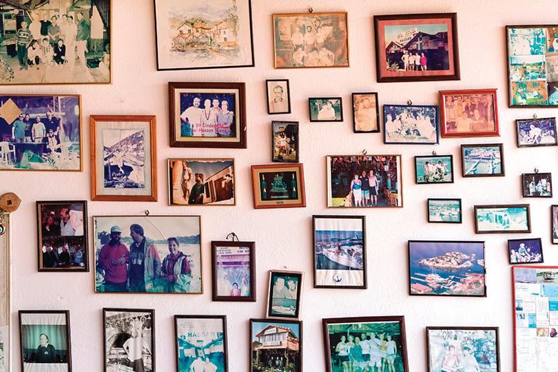 照片牆可以提供主人跟客人之間互動的話題,圖為示意圖。