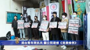 「沒有暴徒,只有暴政!」台灣青年聲援港民主派
