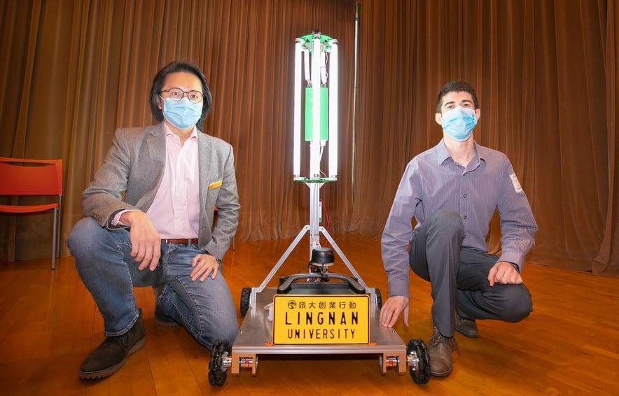 嶺大研發智能紫外光消毒機械人 10分鐘可消毒400平方呎空間