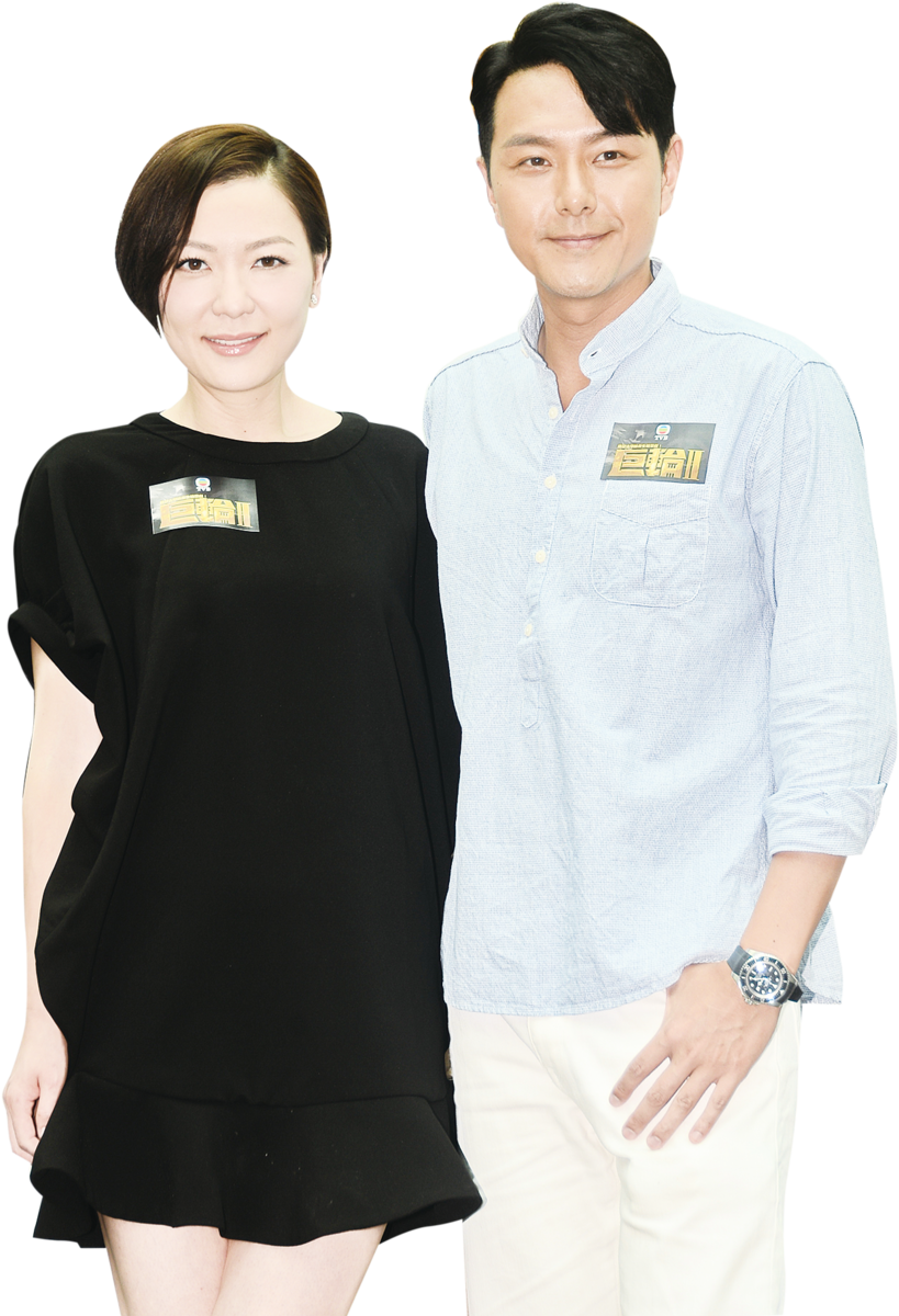 田蕊妮、蕭正楠出席劇集《巨輪II》宣傳。(宋祥龍╱大紀元)