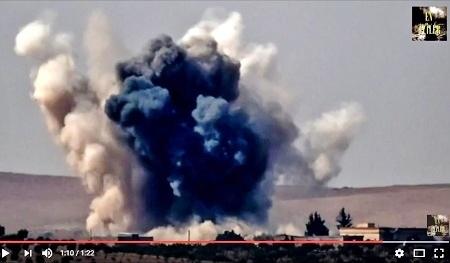據敘利亞人權瞭望台組織說,土耳其28日(周日)在對敘利亞北部的空襲中,炸死了35名平民,另炸傷70人。(YouTube視像擷圖)