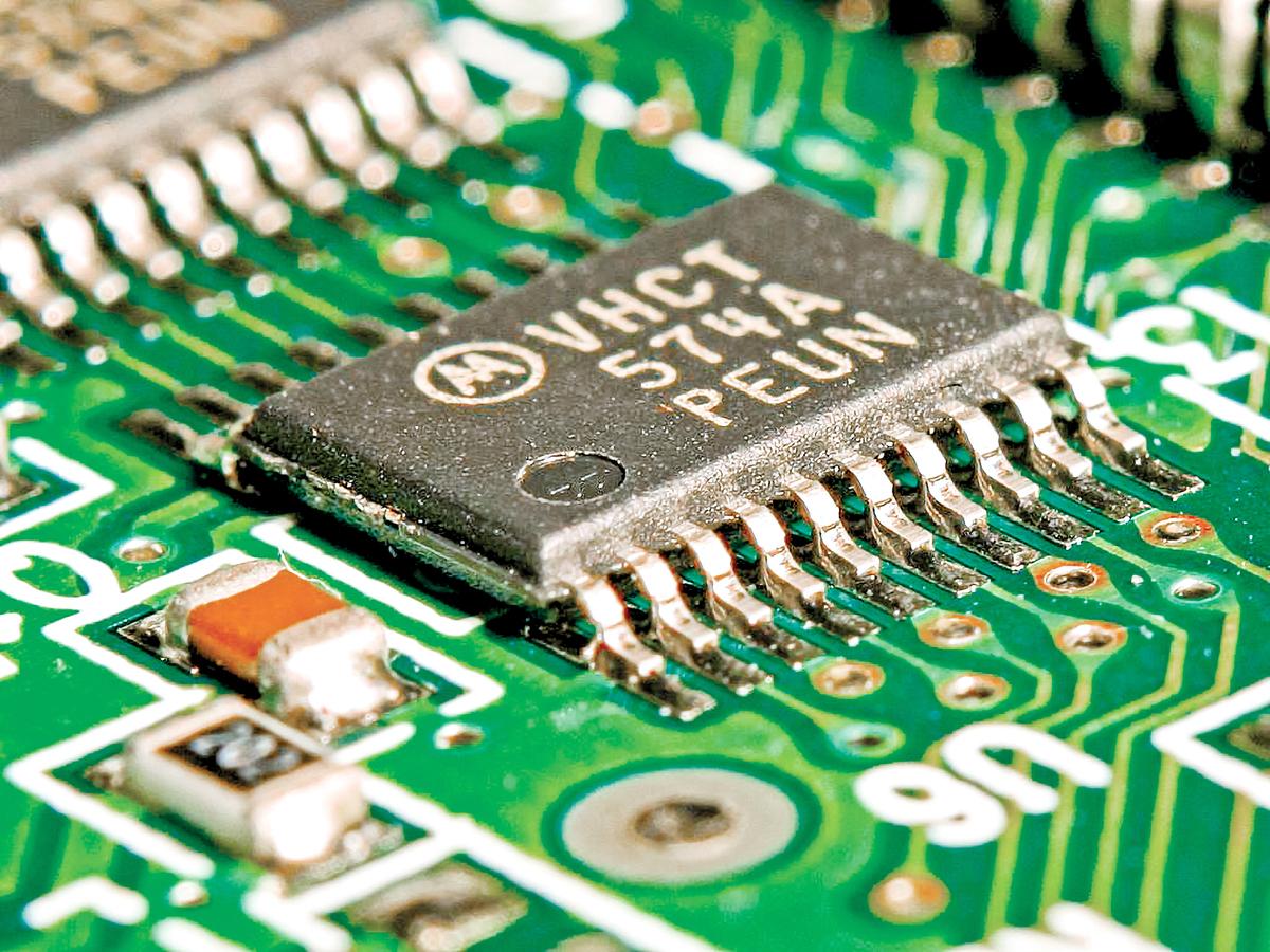 中國最大的合約芯片製造商中芯國際(SMIC)是一家芯片代工廠。圖為芯片示意圖。(公有領域)
