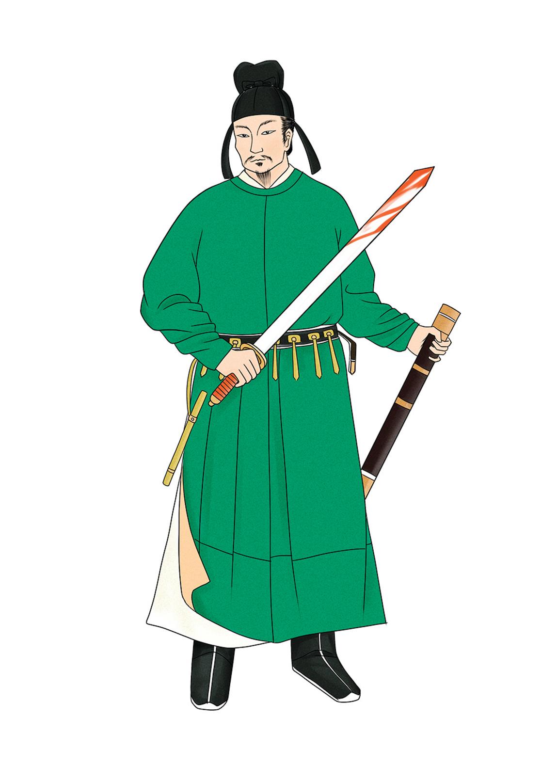 宇文化及,隋末武將,割據勢力之一。弒隋煬帝自立,後為竇建德所殺。