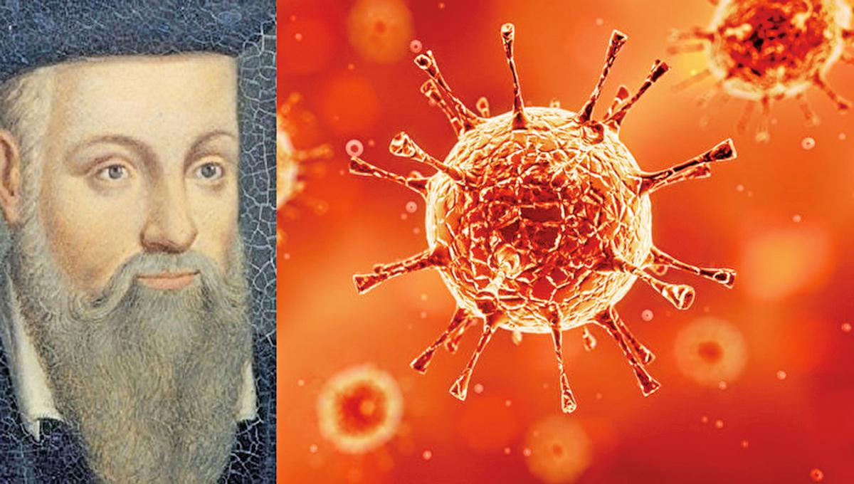 大預言家諾查丹瑪斯預示了大瘟疫的時間。(左圖:公有領域,右圖: Shutterstock/大紀元合成圖片)
