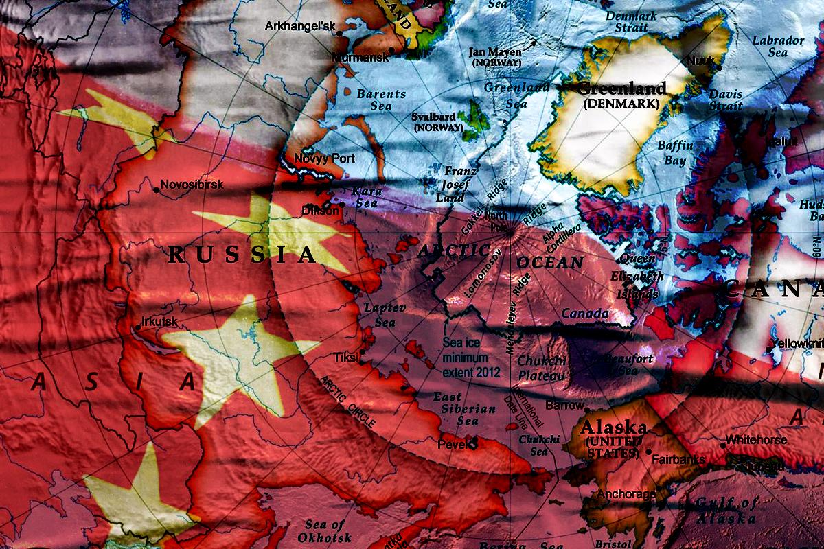 中共高調推進「極地絲綢之路」,引發西方國家和批評人士擔心,中共在北極的足跡越來越多,甚至可能發展為軍事圖謀。(大紀元製圖)