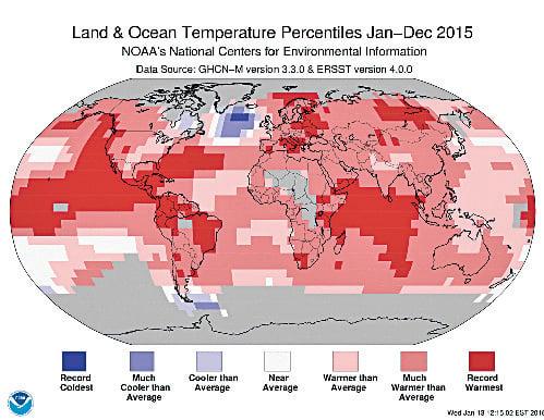 創136年紀錄 2015年史上最熱