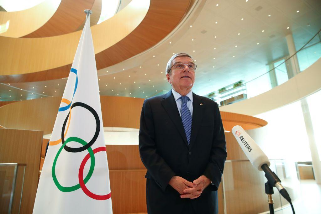 剛獲連任的國際奧委會主席巴赫(Thomas Bach)11日宣佈,中共將提供疫苗給各國參賽運動員施打。(Denis Balibouse / POOL / AFP)