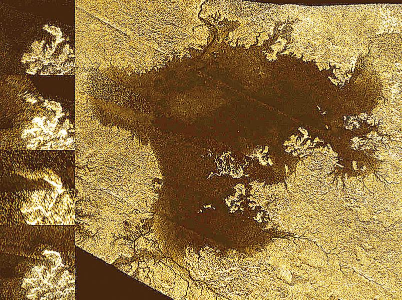 土衛六大峽谷充滿液體