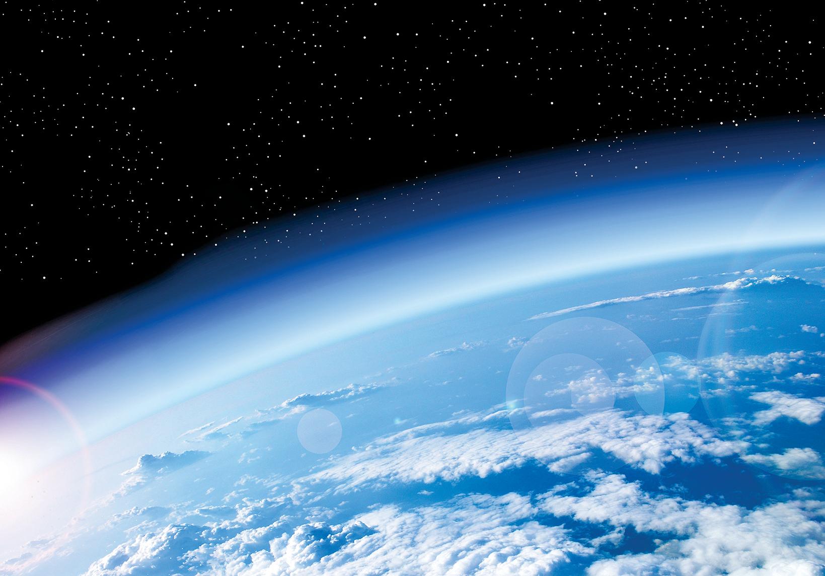 地球大氣層俯視圖。(Shutter Stock)