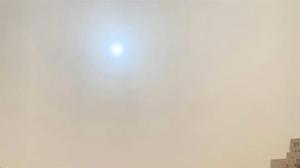 中國多地驚見「藍太陽」 民衆憂要有大事發生