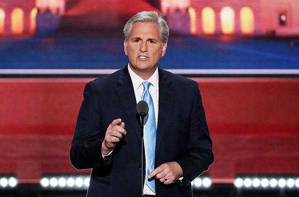 眾議院少數黨領袖麥卡錫(Kevin McCarthy)。(Alex Wong/Getty Images)