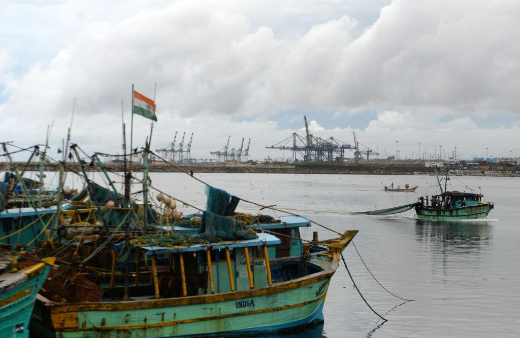 印度3月15日公佈2月商品出口按年上升0.7%至279.3億美元,貿易逆差126.2億美元。(ARUN SANKAR/AFP via Getty Images)