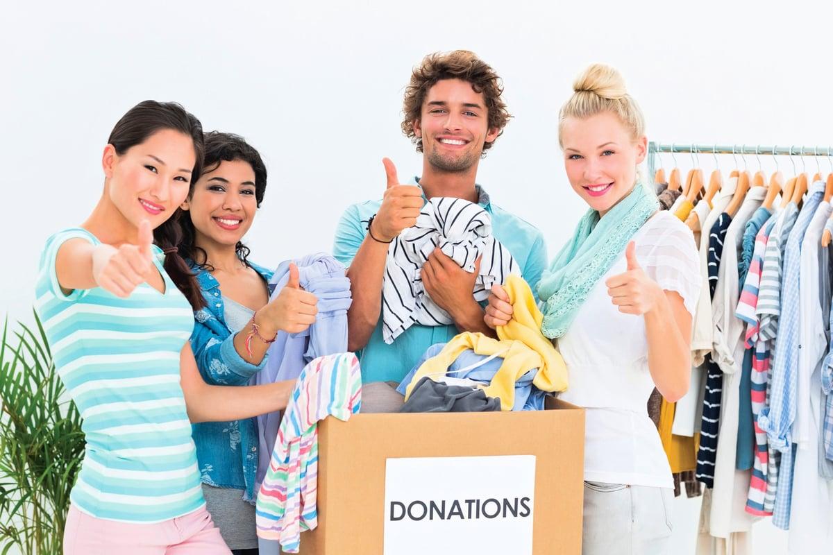 將穿不到的衣服捐贈出去,自己也會感到輕鬆。