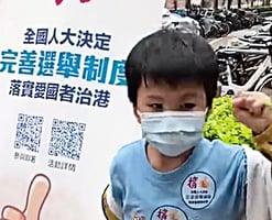 小童撐政府改選舉制 揮拳仇恨黃絲疑被洗腦