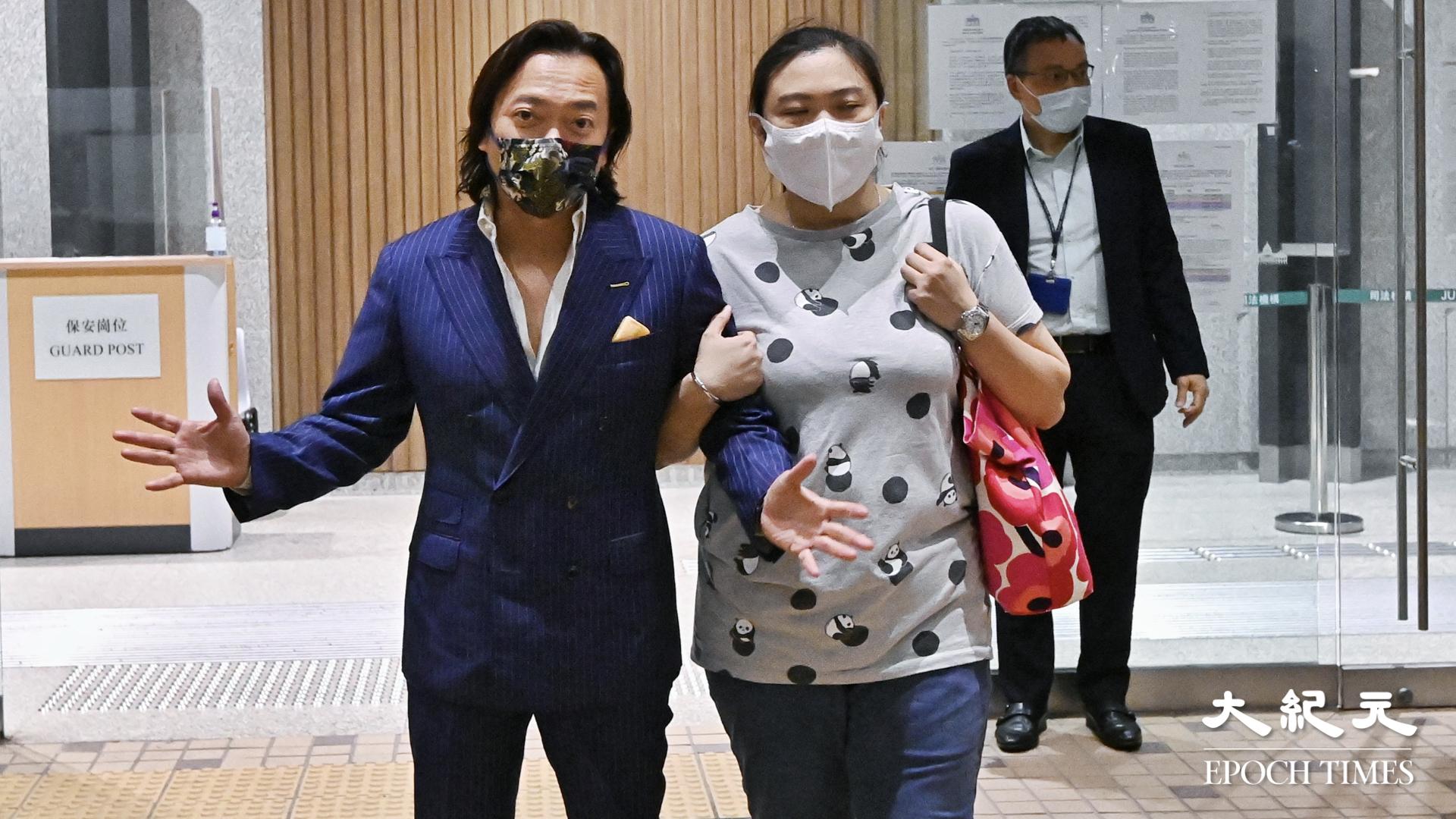 3月5日,劉偉聰和太太離開法庭。(宋碧龍/大紀元)