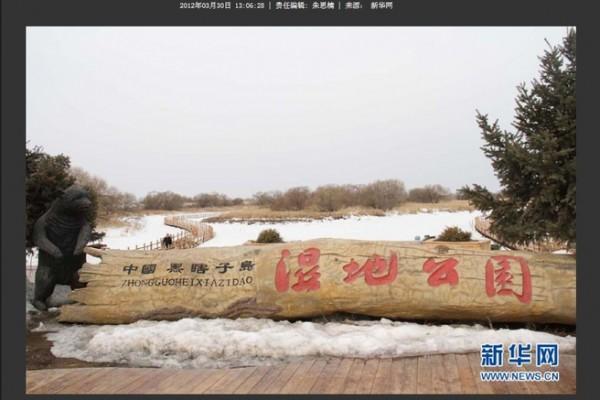 近日,全國濕地保護管理工作會議在哈爾濱召開,官媒凸顯「黑瞎子島」濕地公園,令人們關注黑瞎子島背後。帶出的江出賣國土醜聞。(網頁擷圖)