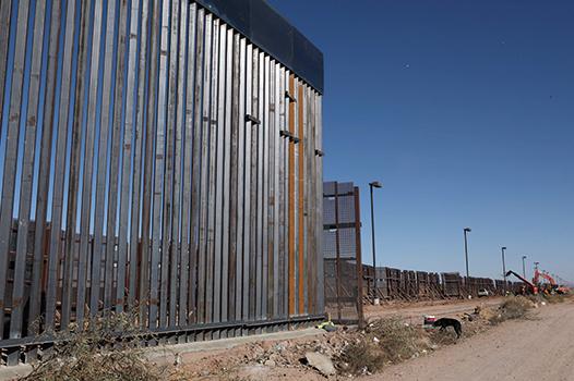 阻止非法移民的美墨邊境牆的一部份。(Getty Images)