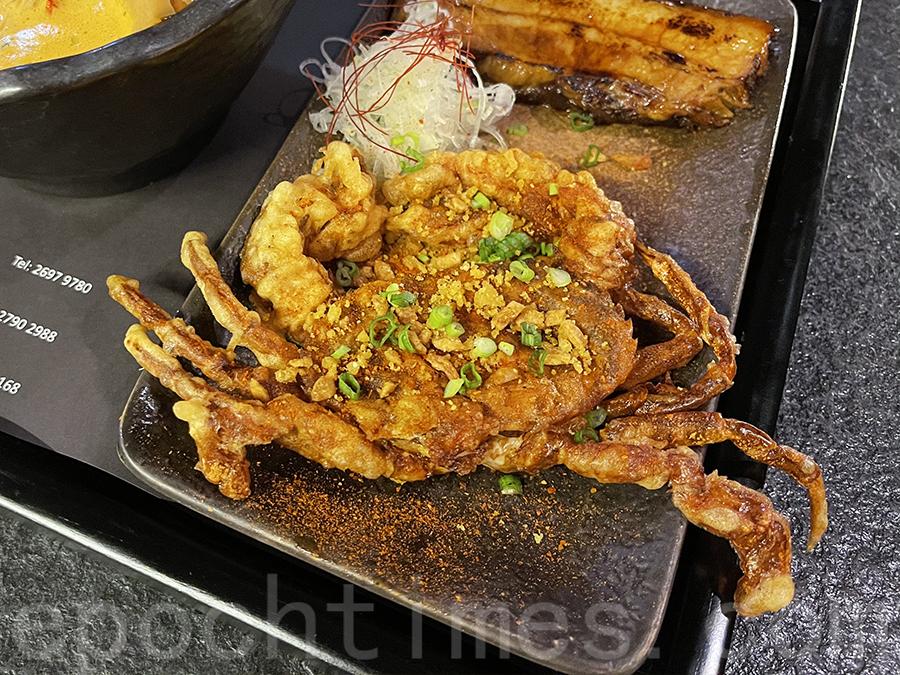 軟殼蟹炸得酥脆。(Siu Shan提供)