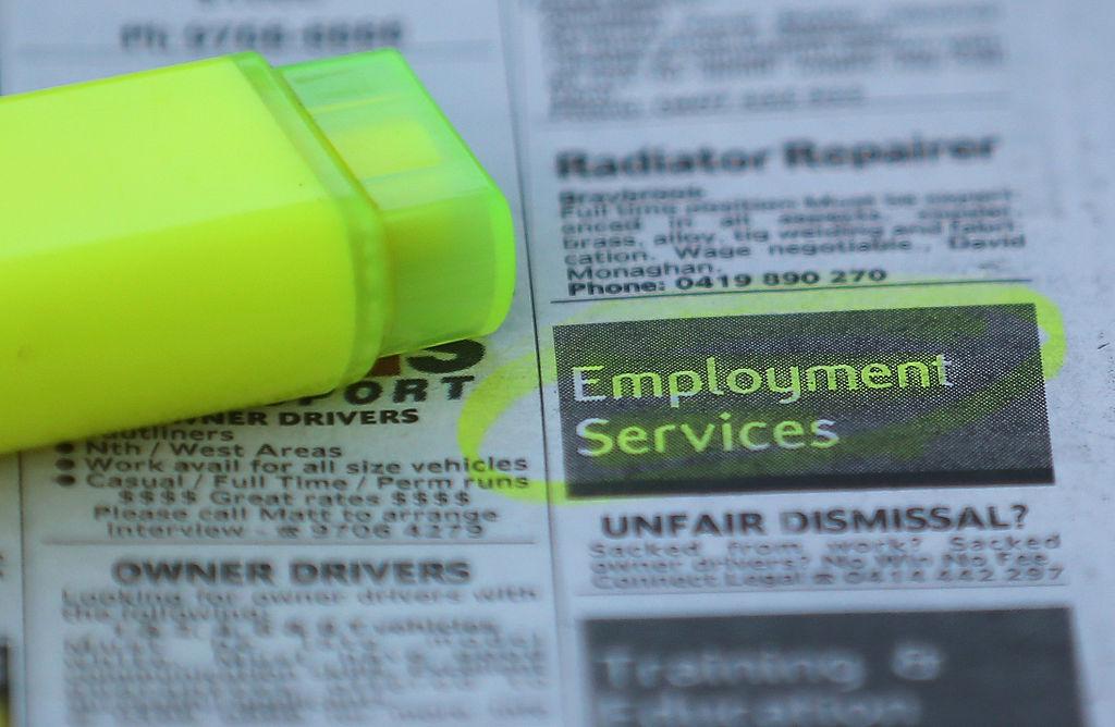根據澳洲統計局昨(3月18日)公佈的數據,澳洲2月份的失業率從6.3%降至5.8%,遠超市場經濟學家們的預料。(Scott Barbour/Getty Images)