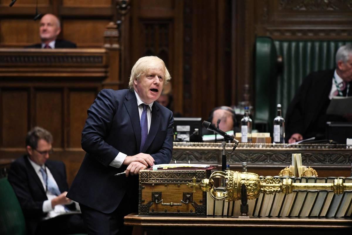 英國首相約翰遜和4個持BNO移英的香港家庭討論了他們離港的原因和來英工作、生活後的體驗。(UK Parliament / J.Taylor / Via Reuters)