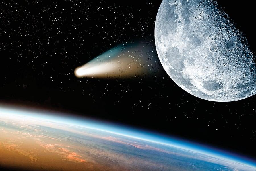 月球也有「彗尾」新月時掃過地球