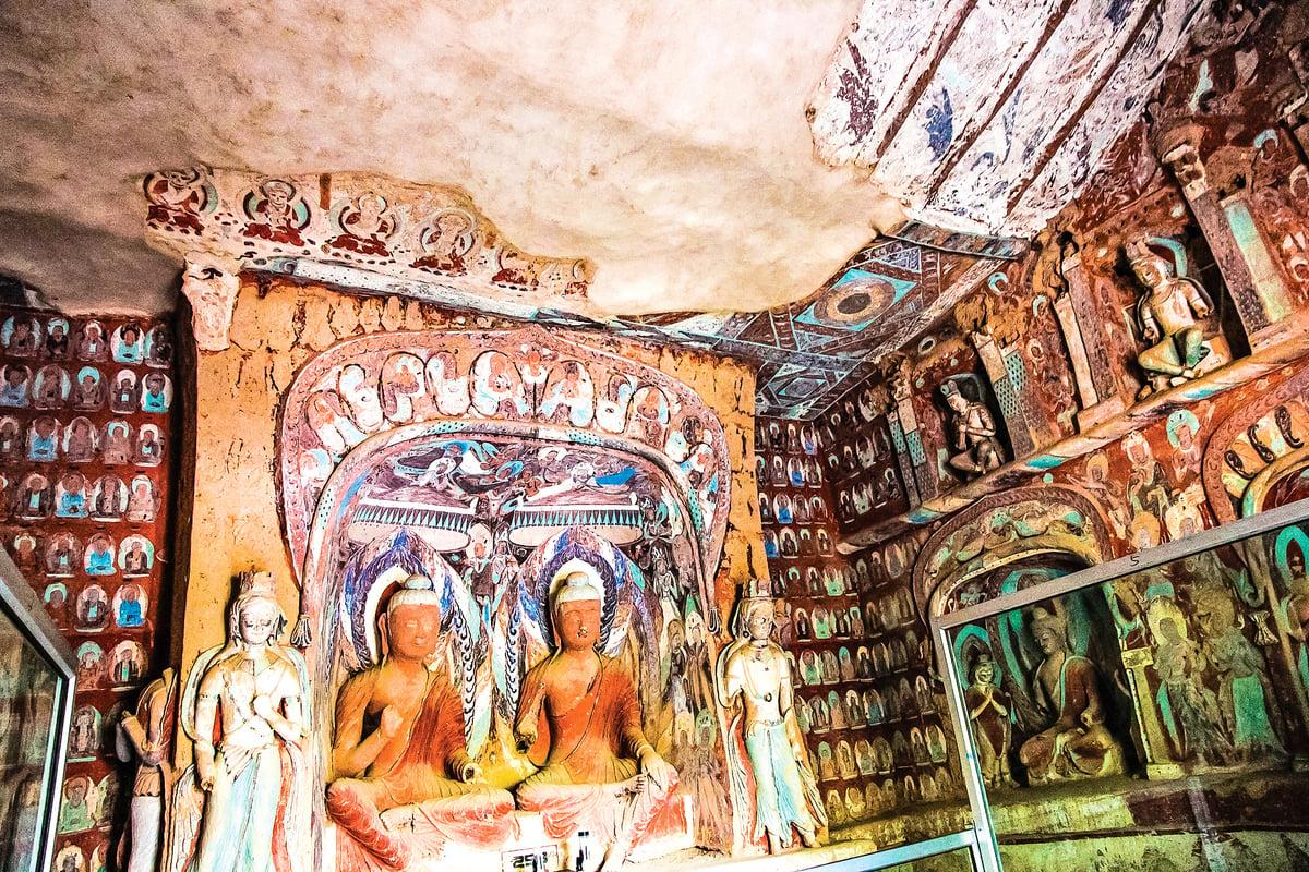 甘肅省敦煌市莫高窟千佛洞壁畫。(Shutterstock)
